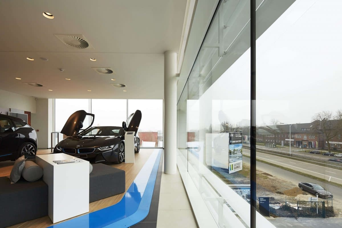 BMW Van Osch Hasselt a-tract architecture