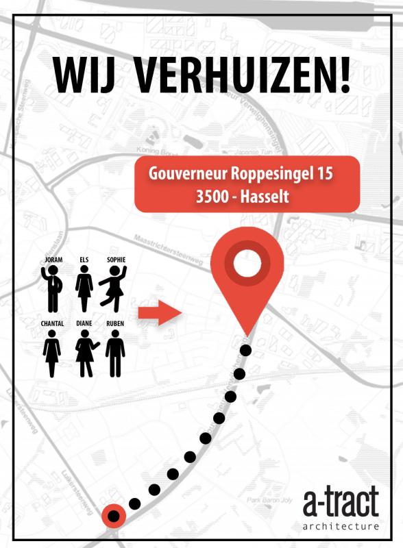 Wij Verhuizen Nieuw adres a-tract architecture Gouverneur Roppesingel 15 Hasselt