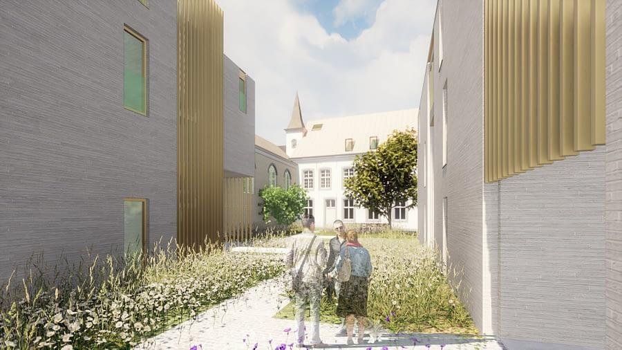 clarissen sint-truiden klooster a-tract architecture